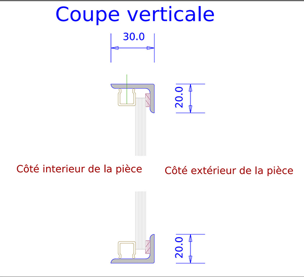 Verri re d 39 int rieur avec soubassement for Dimension verriere atelier