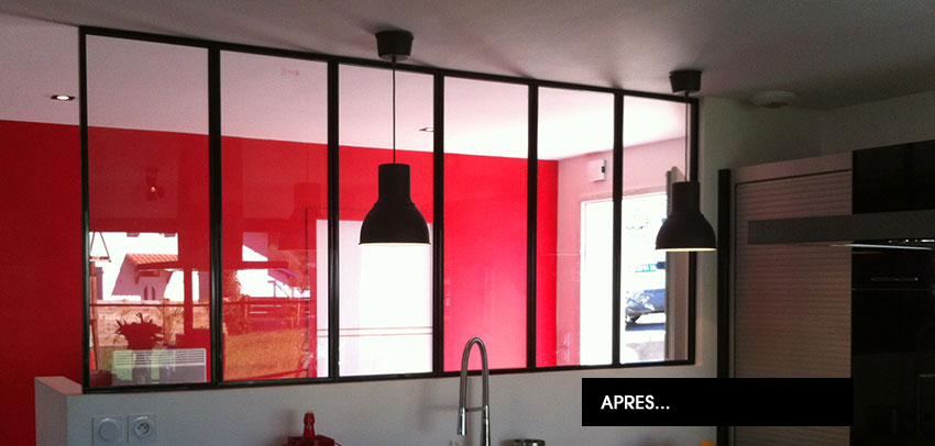 Verri re d 39 int rieur et verri re d 39 atelier d 39 artiste sur mesure - Comment faire une verriere interieur ...